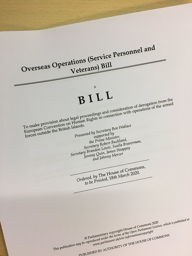 UK overseas operations bill: 'Suppress the violations, not those who expose them'