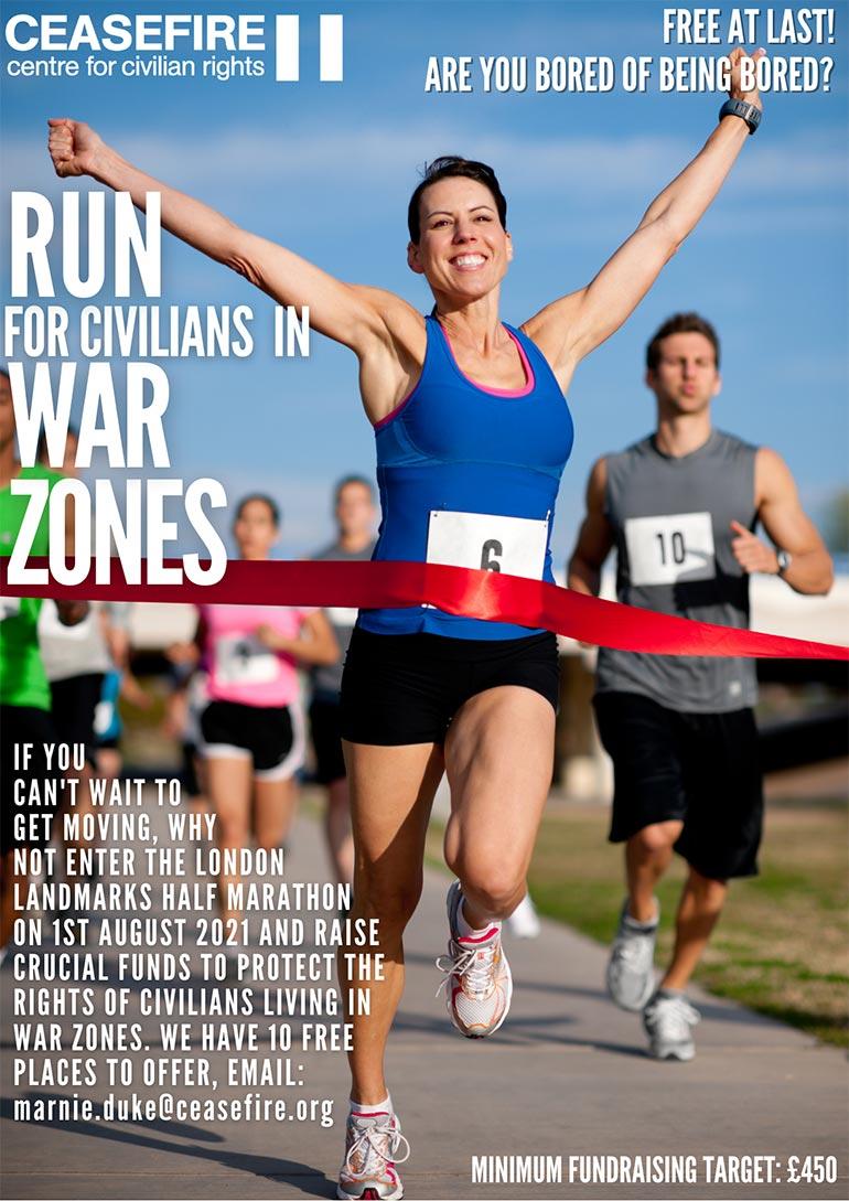 London Landmarks Half Marathon Free Places – Run For Civilian Rights!